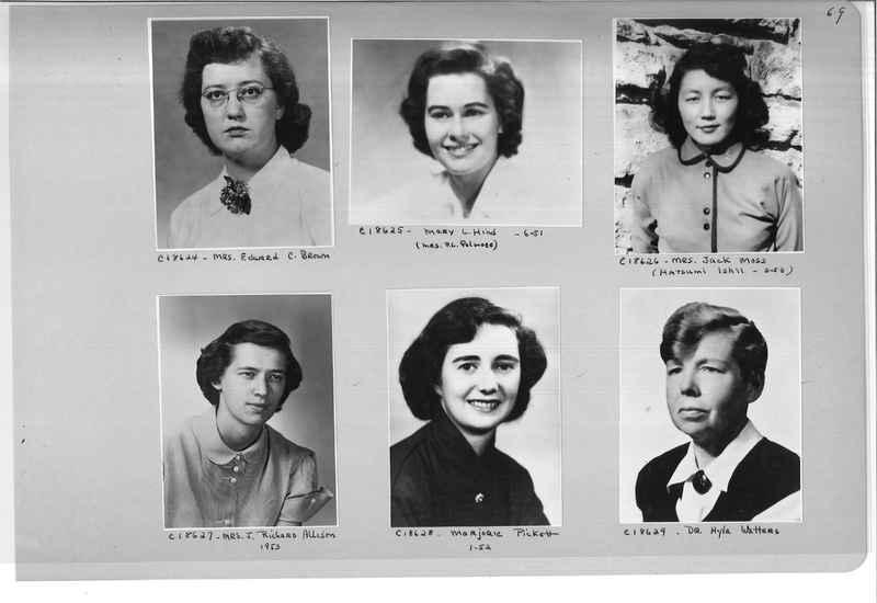 Mission Photograph Album - Portraits #08 Page 0069