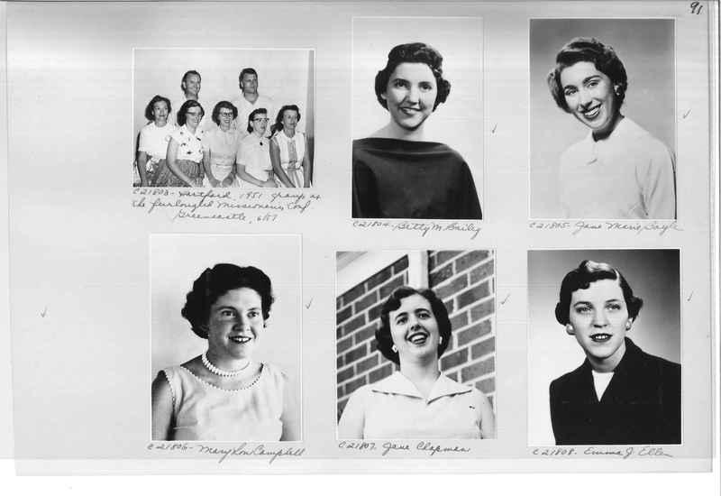 Mission Photograph Album - Portraits #10 Page 0091