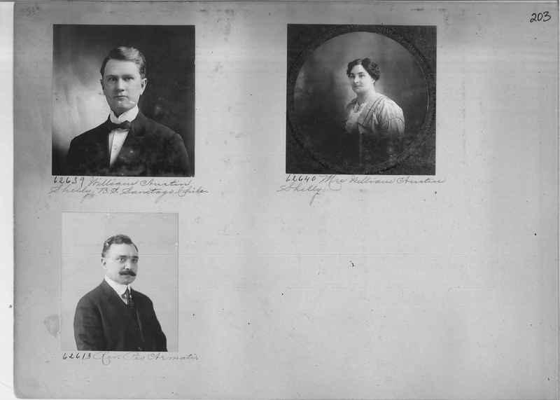 Mission Photograph Album - Portraits #2 page 0203