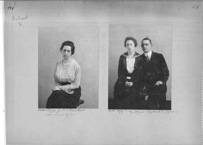Mission Photograph Album - Portraits #2 page 0194
