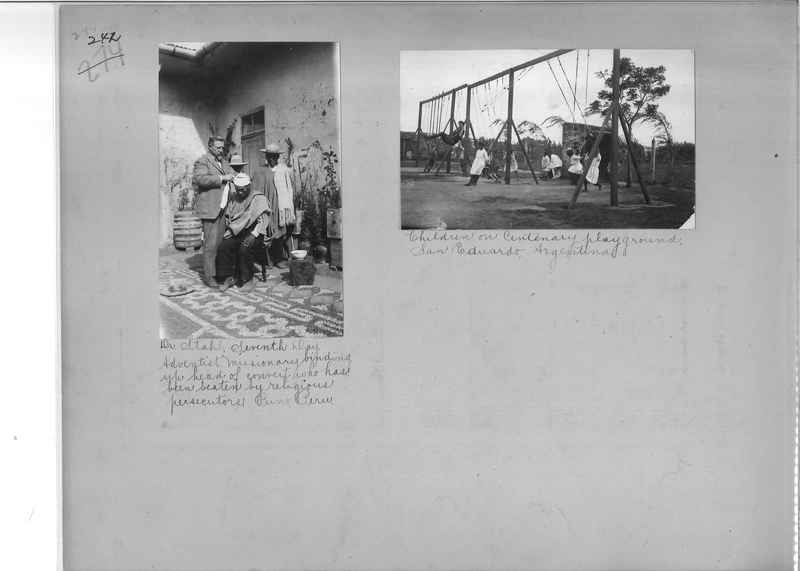 Mission Photograph Album - South America O.P. #2 page 0242