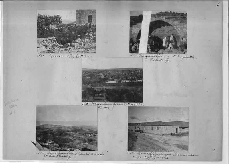 Mission Photograph Album - Western Asia - #01 page_0001