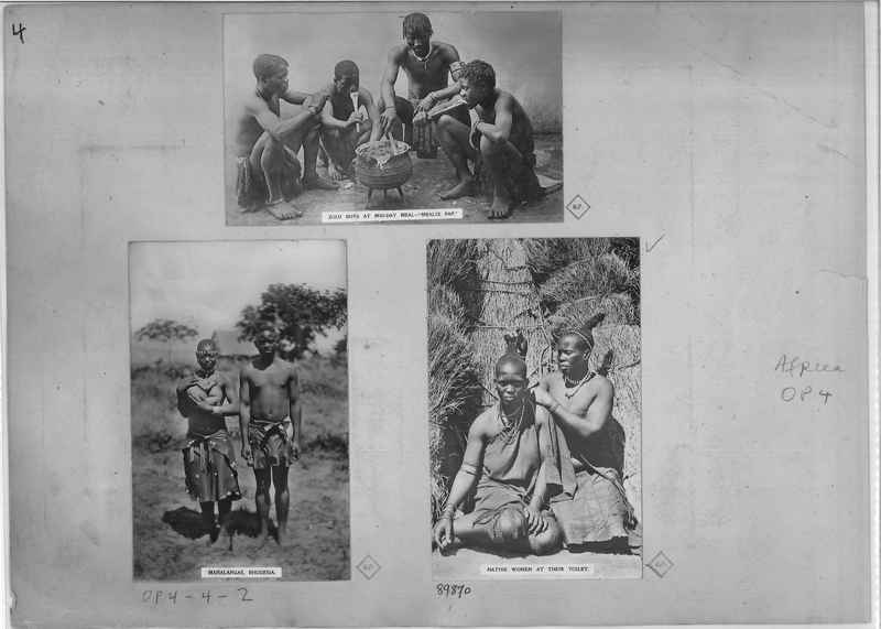 Mission Photograph Album - Africa O.P. #4 page 0004
