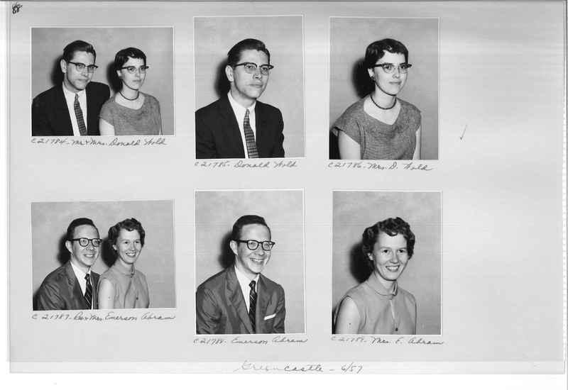 Mission Photograph Album - Portraits #10 Page 0088