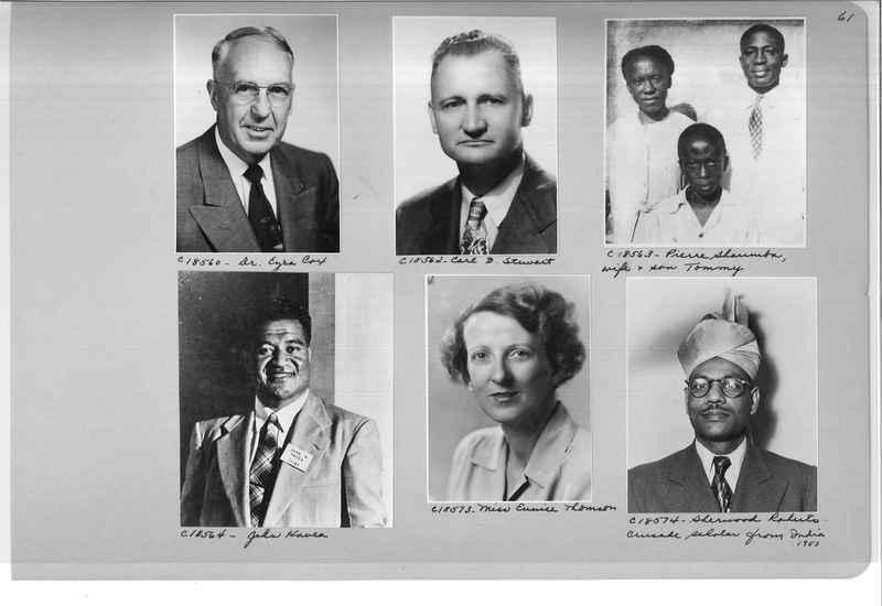 Mission Photograph Album - Portraits #08 Page 0061