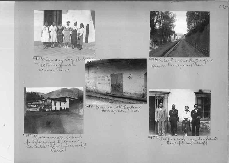 Misson Photograph Album - South America #8 page 0135