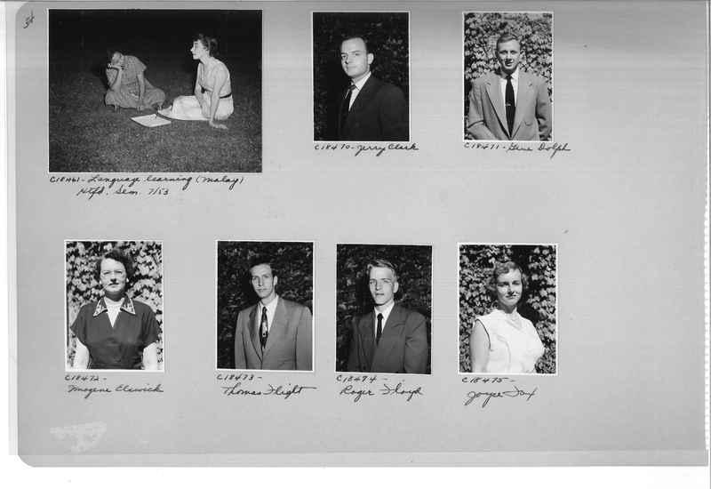 Mission Photograph Album - Portraits #08 Page 0054