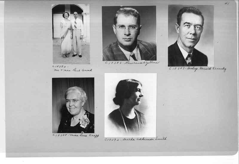Mission Photograph Album - Portraits #08 Page 0041