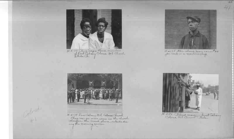 Mission Photograph Album - Negro #1 page 0041