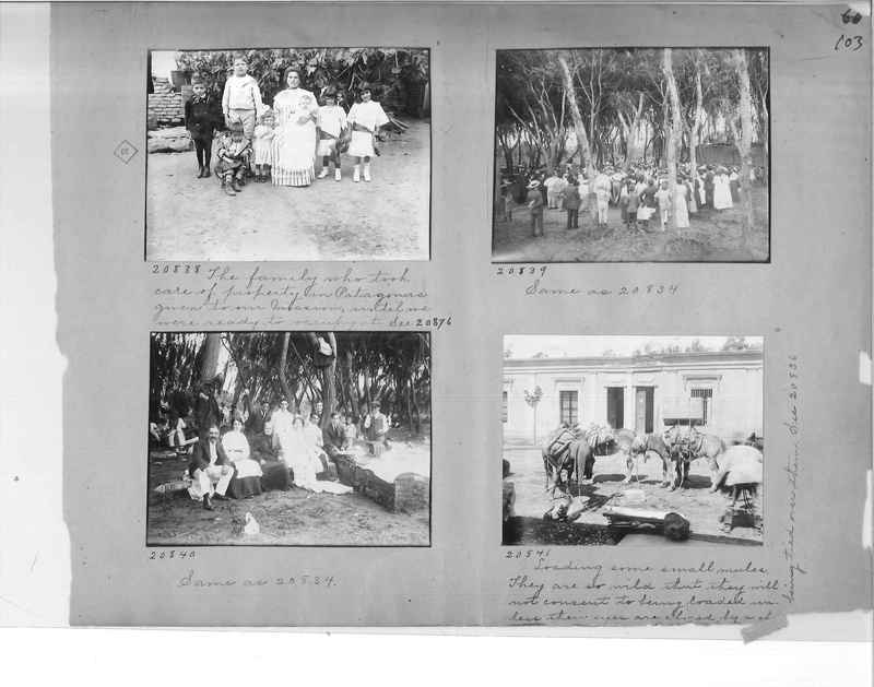 Mission Photograph Album - Panama #1 page  0103