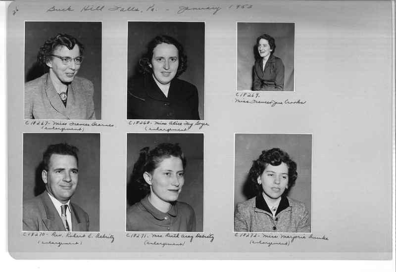 Mission Photograph Album - Portraits #08 Page 0026