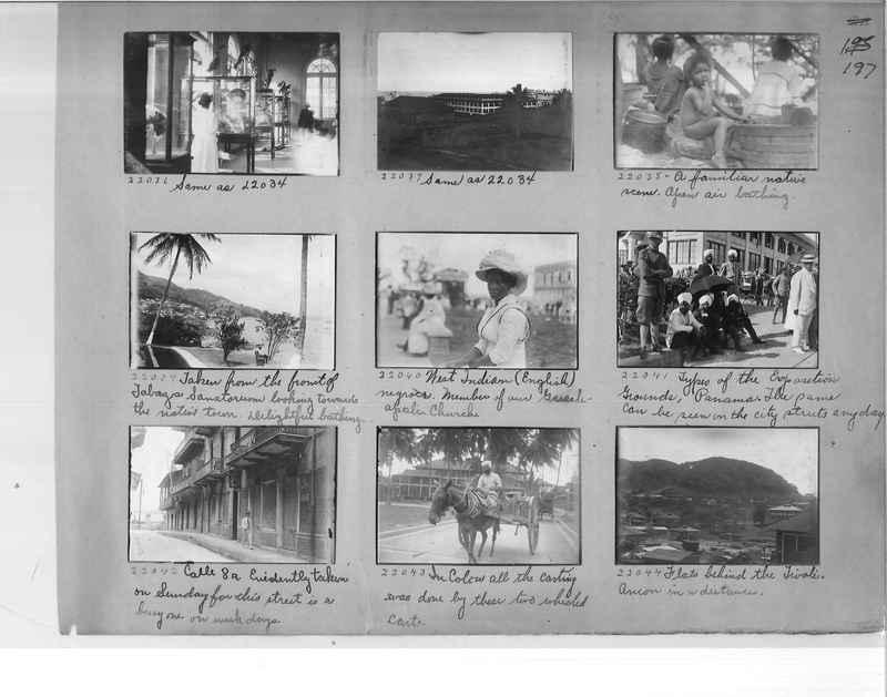Mission Photograph Album - Panama #1 page  0197
