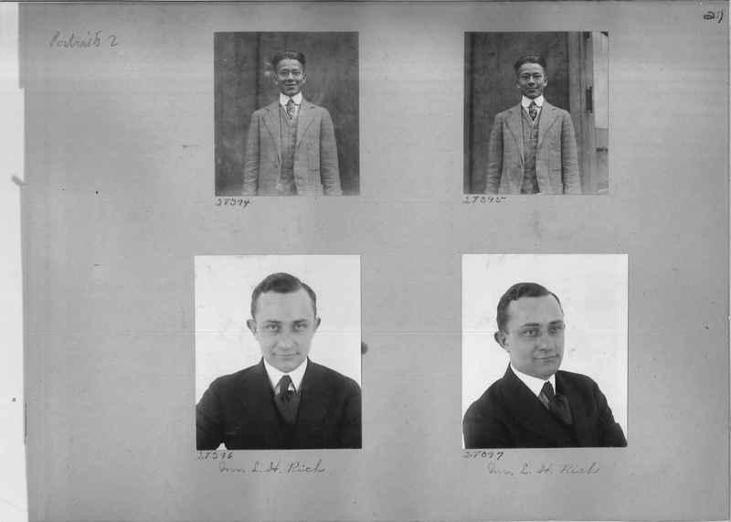 Mission Photograph Album - Portraits #2 page 0021