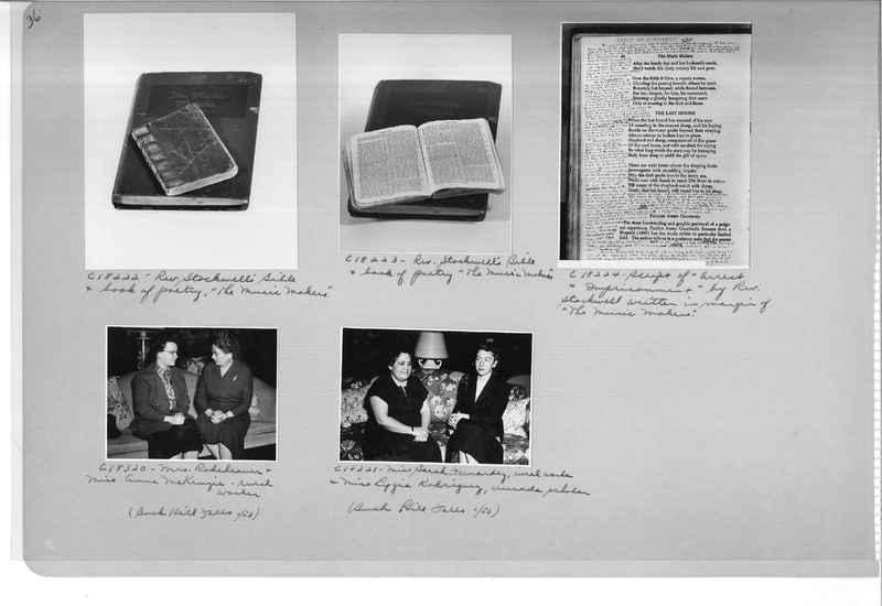 Mission Photograph Album - Portraits #08 Page 0036