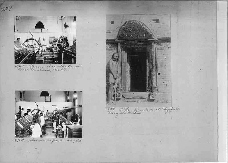 Mission Photograph Album - India #08 Page 0204