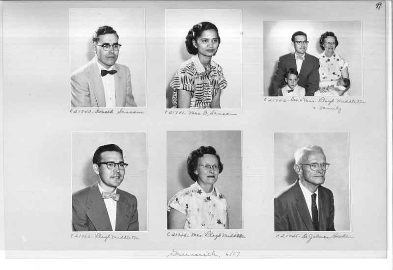 Mission Photograph Album - Portraits #10 Page 0081