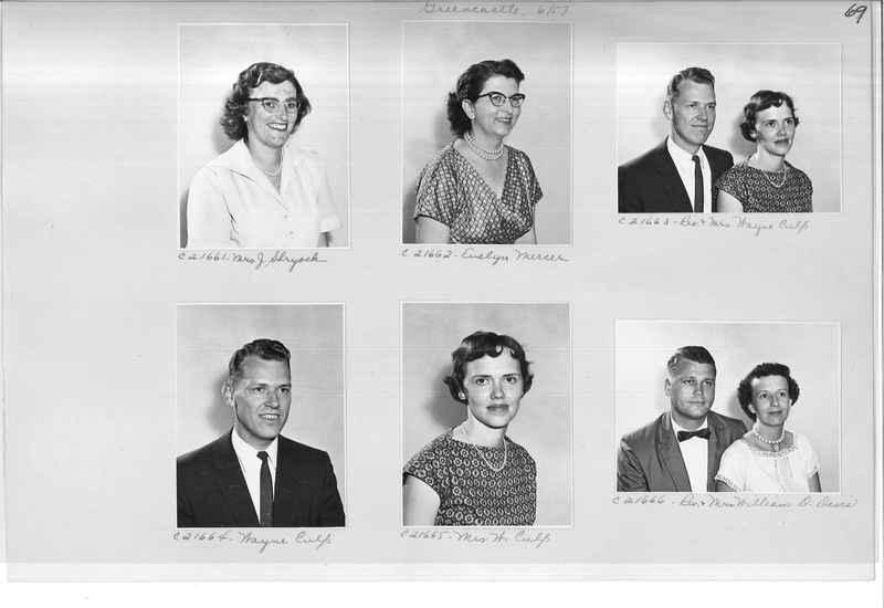 Mission Photograph Album - Portraits #10 Page 0069