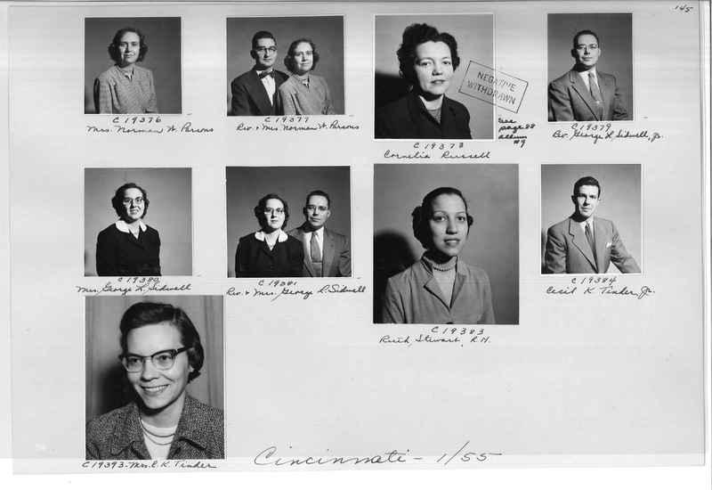 Mission Photograph Album - Portraits #08 Page 0145