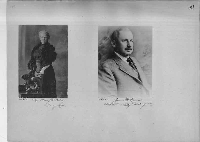 Mission Photograph Album - Portraits #2 page 0131