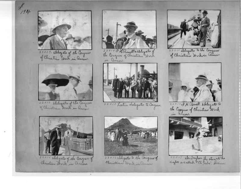 Mission Photograph Album - Panama #1 page  0194