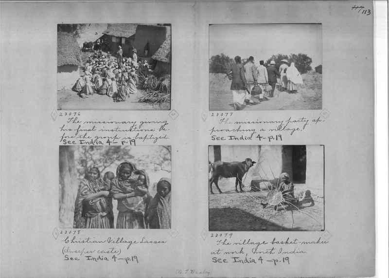 Mission Photograph Album - India - O.P. #01 Page 0113