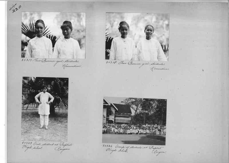 Mission Photograph Album - Burma #1 page 0220