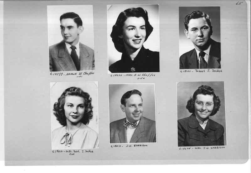 Mission Photograph Album - Portraits #08 Page 0065