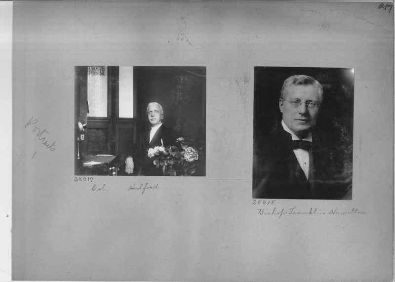 Mission Photograph Album - Portraits #1 page 0217