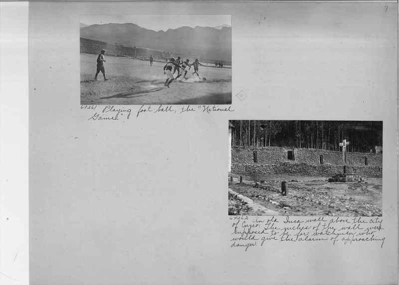Mission Photograph Album - South America O.P. #3 page 0007