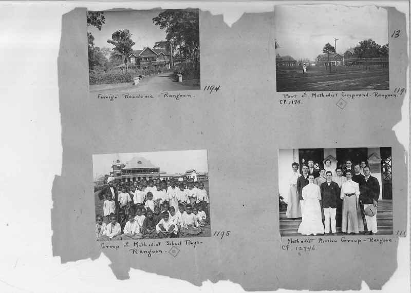 Mission Photograph Album - Burma #1 page 0013