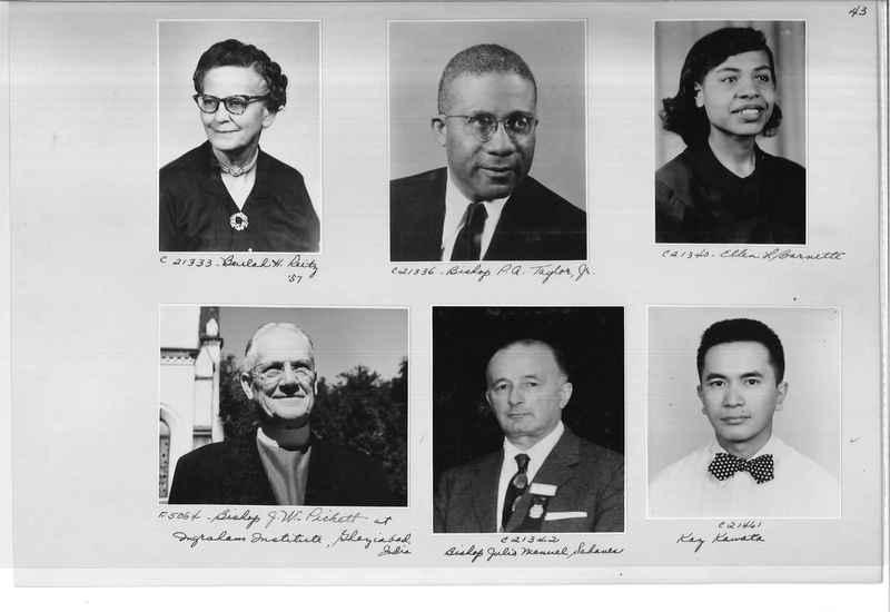 Mission Photograph Album - Portraits #10 Page 0043