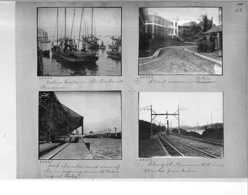 Mission Photograph Album - Panama #1 page  0113