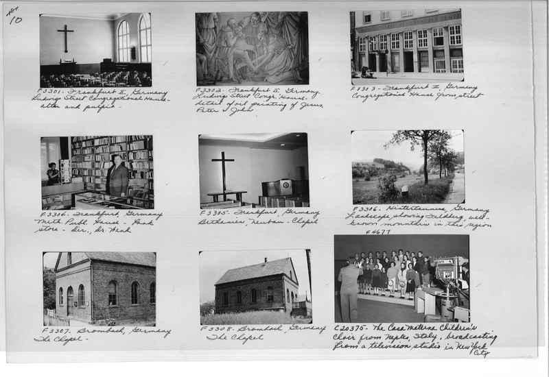 Mission Photograph Album - Europe #10 Page 0010