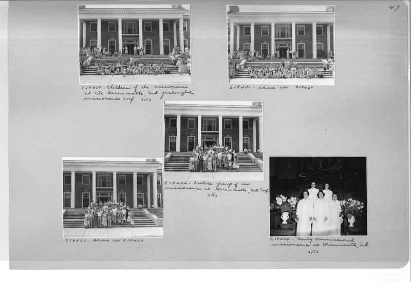 Mission Photograph Album - Portraits #08 Page 0047