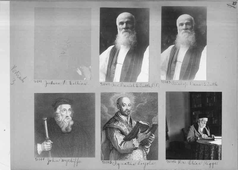 Mission Photograph Album - Portraits #3 page 0085