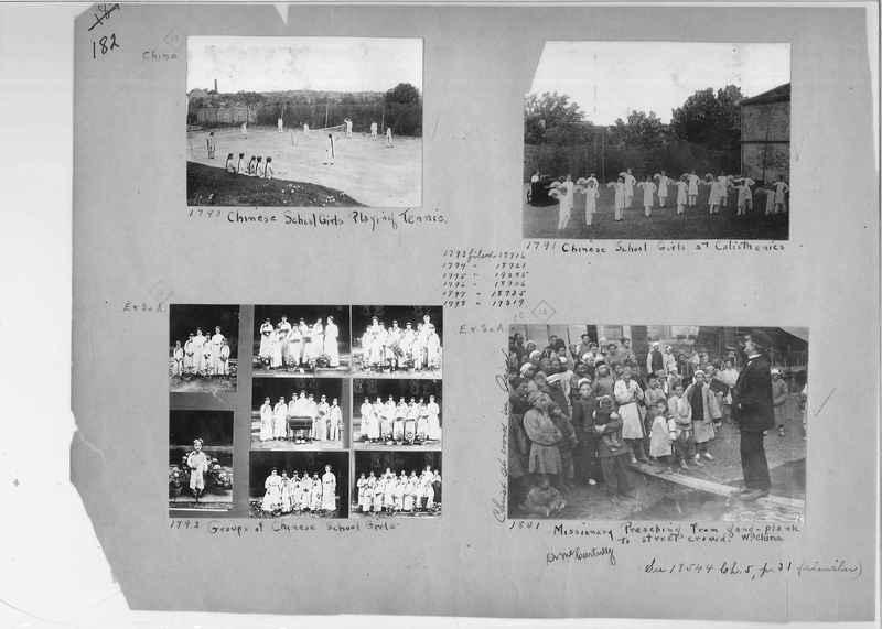 Mission Photograph Album - China #1 page  0182
