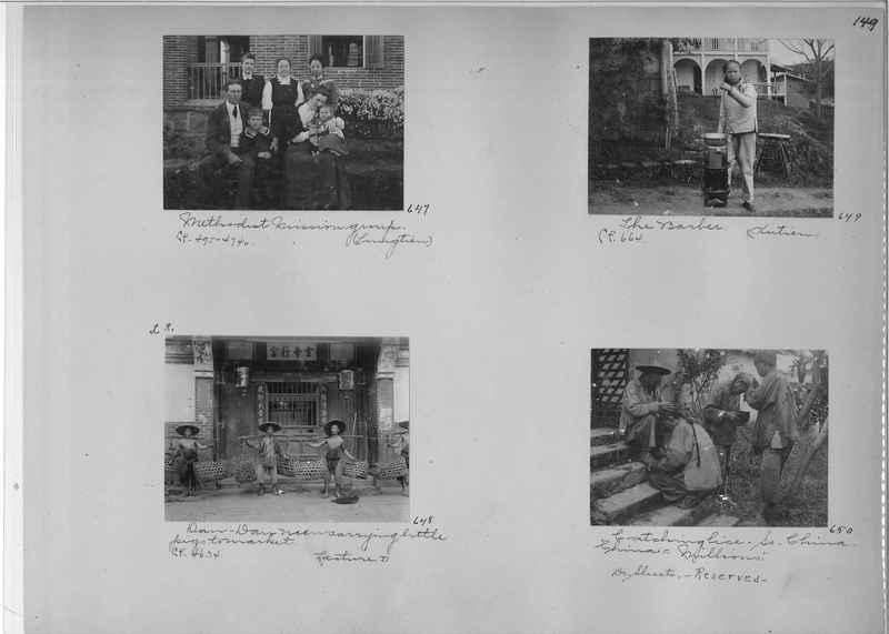 Mission Photograph Album - China #1 page  0149