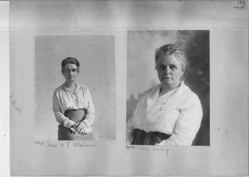 Mission Photograph Album - Portraits #3 page 0193