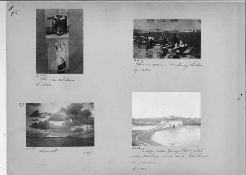 Mission Photograph Album - China #1 page  0194