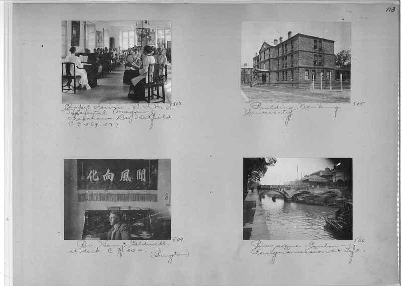 Mission Photograph Album - China #1 page  0113